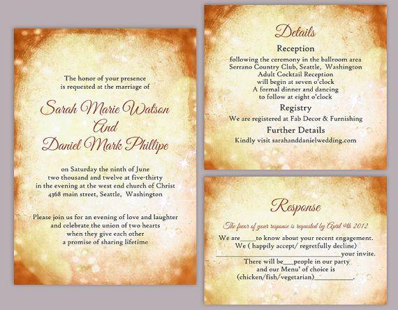Rustic Wedding Invitation Template Download Printable