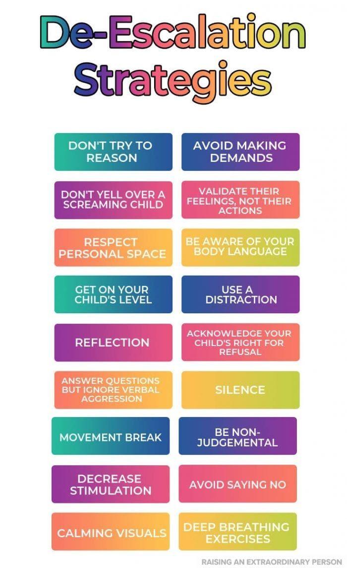 18 Effective De-Escalation Strategies For Diffusing Meltdowns #parenting
