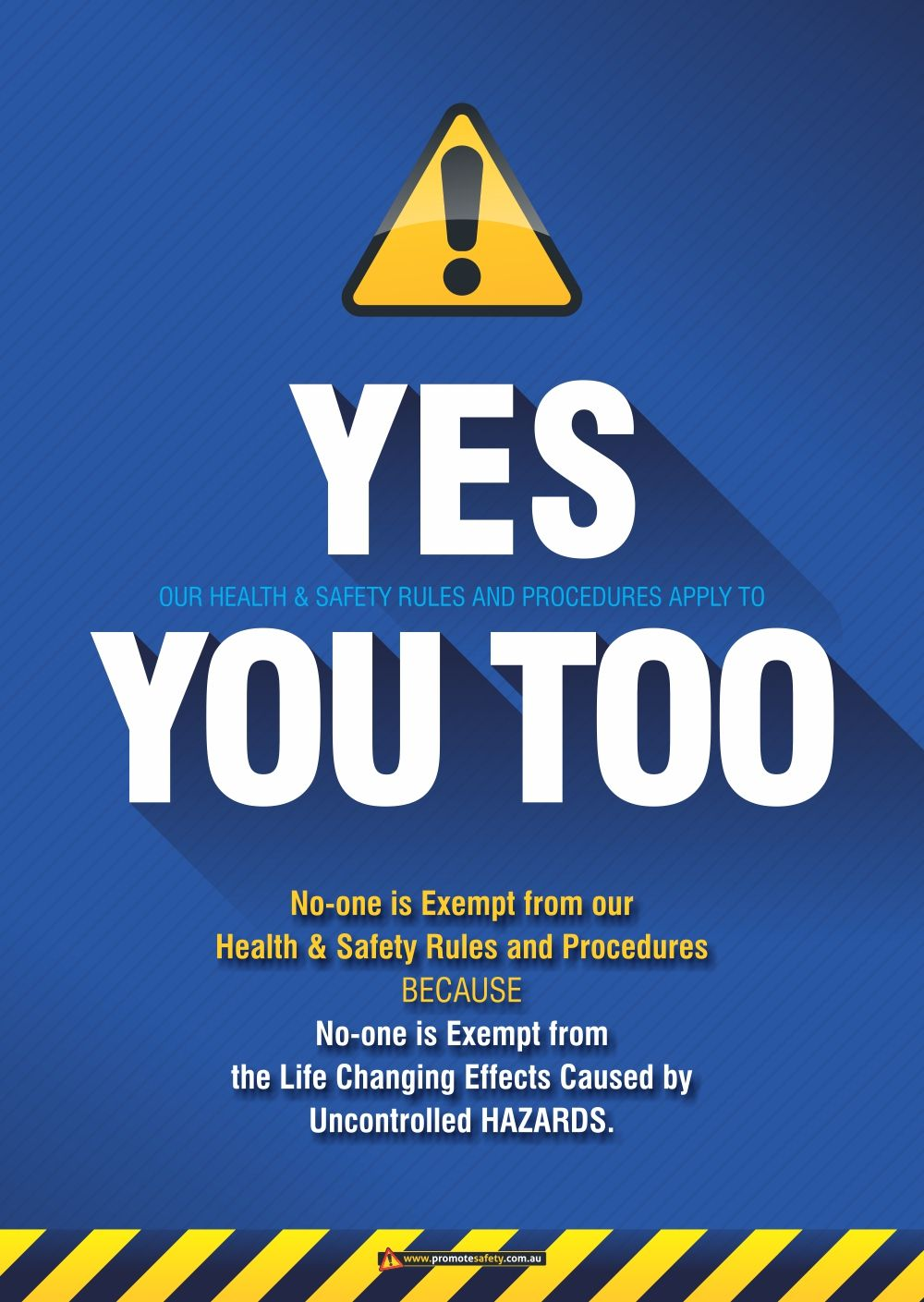 Workplace Safety Poster aimed at supporting safety signs