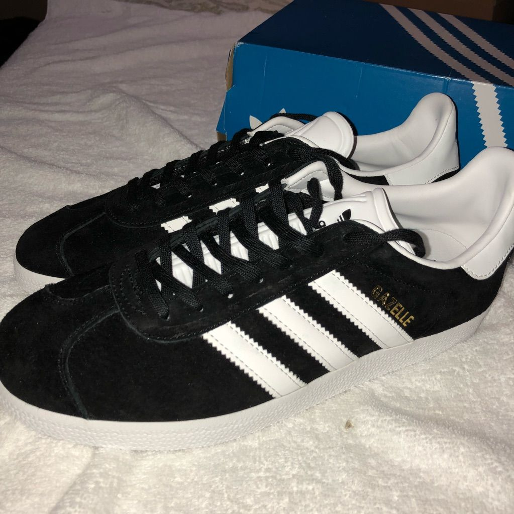 check-out 0abf9 2e6e1 adidas Shoes | Black Gazelle Adidas | Color: Black | Size ...