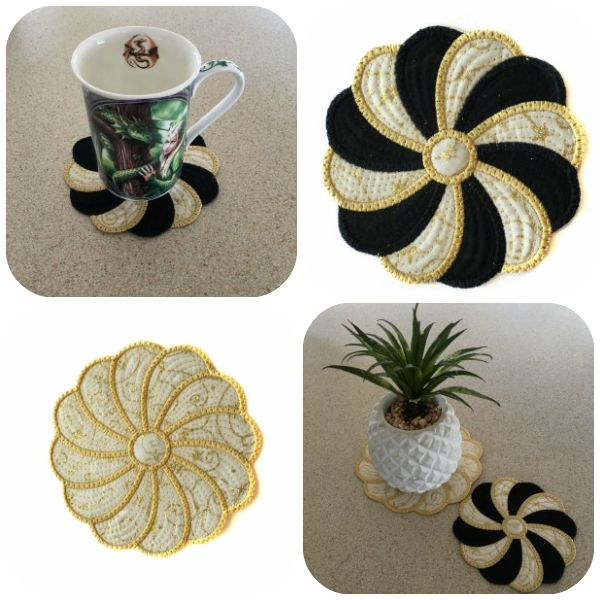 Swirly Coasters