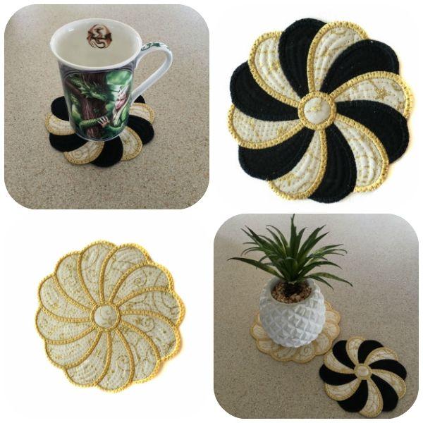 Swirly Coasters