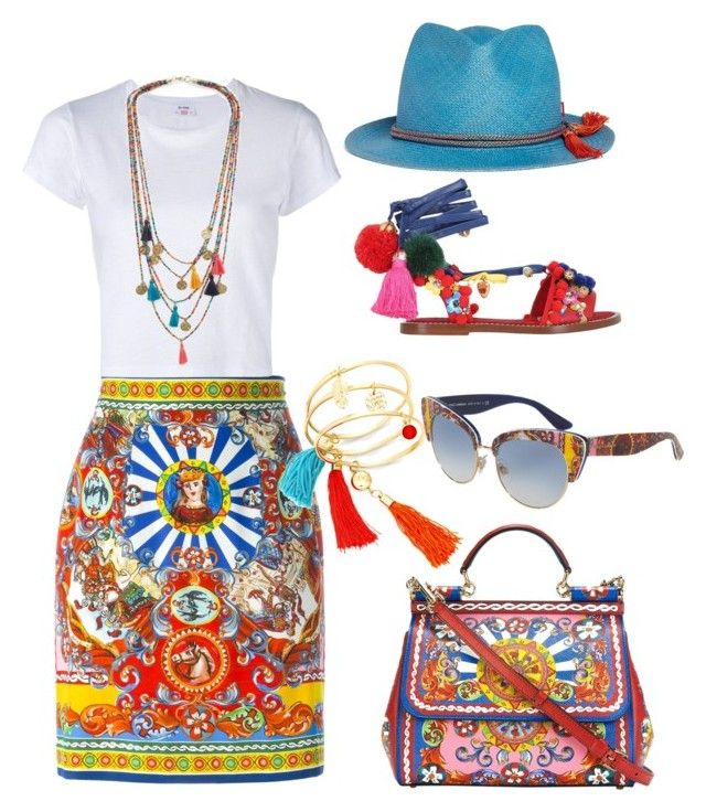 """Tassels & a fedora"" by tootieblack ❤ liked on Polyvore featuring Dolce&Gabbana, RE/DONE, My Bob and MANGO"