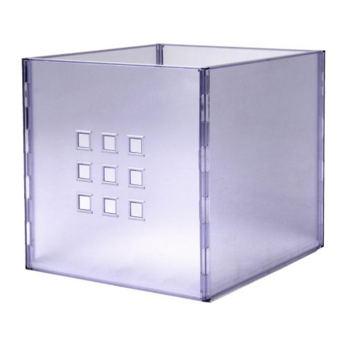 These clear/purple tinted storage boxes will be in each of the 5 shelf/cubby holes (birch color bookcase).  sc 1 st  Pinterest & These clear/purple tinted storage boxes will be in each of the 5 ...