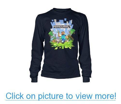 Boys 8-20 Long Sleeves Minecraft Adventure T Shirt