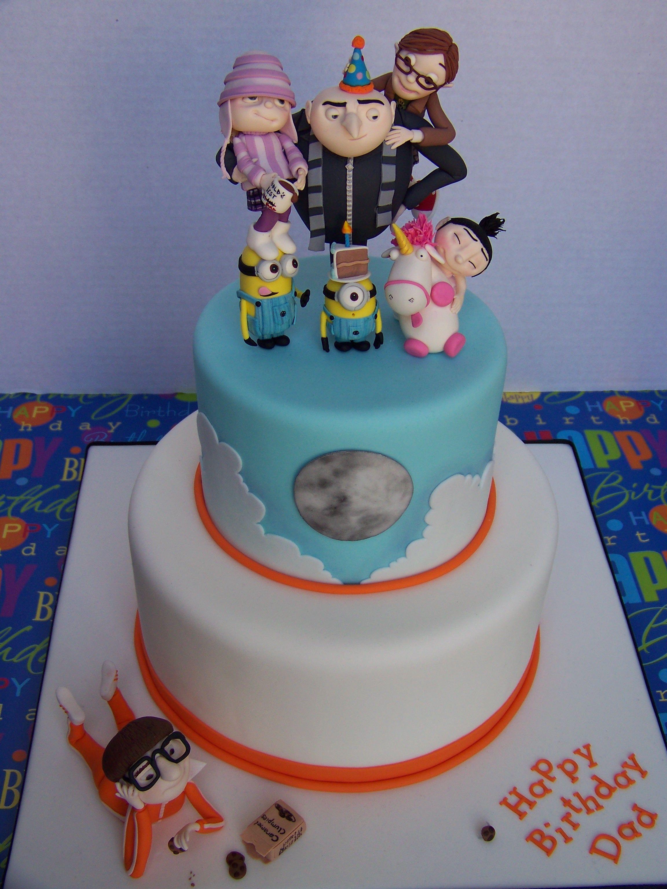 Marvelous 004Jpg Minion Cake Despicable Me Cake Birthday Cards Printable Riciscafe Filternl