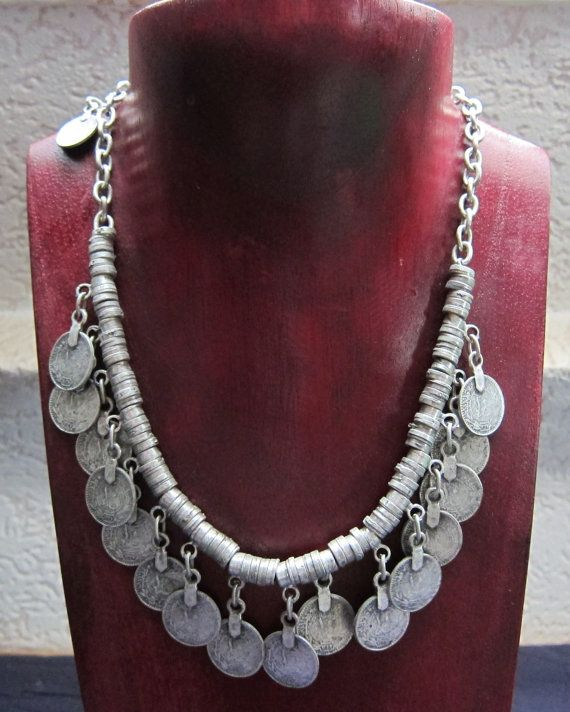 Berber Silver Coins Necklace South Morrocan by TuaregJewelry, $228.00  https://www.facebook.com/TuaregJewelry