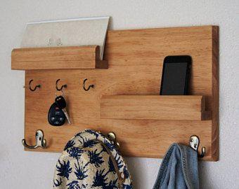 Wall coat rack storage key hooks floating shelf ganchos for Ganchos para repisas