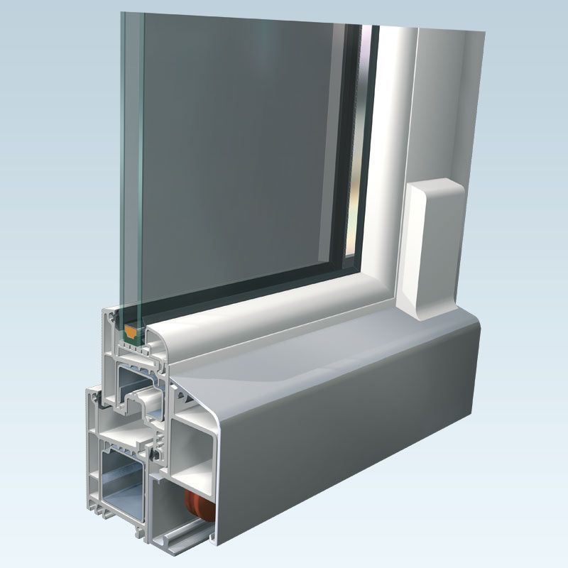 koemmerling pask tur u volkswagen high insulation window system total face width mm