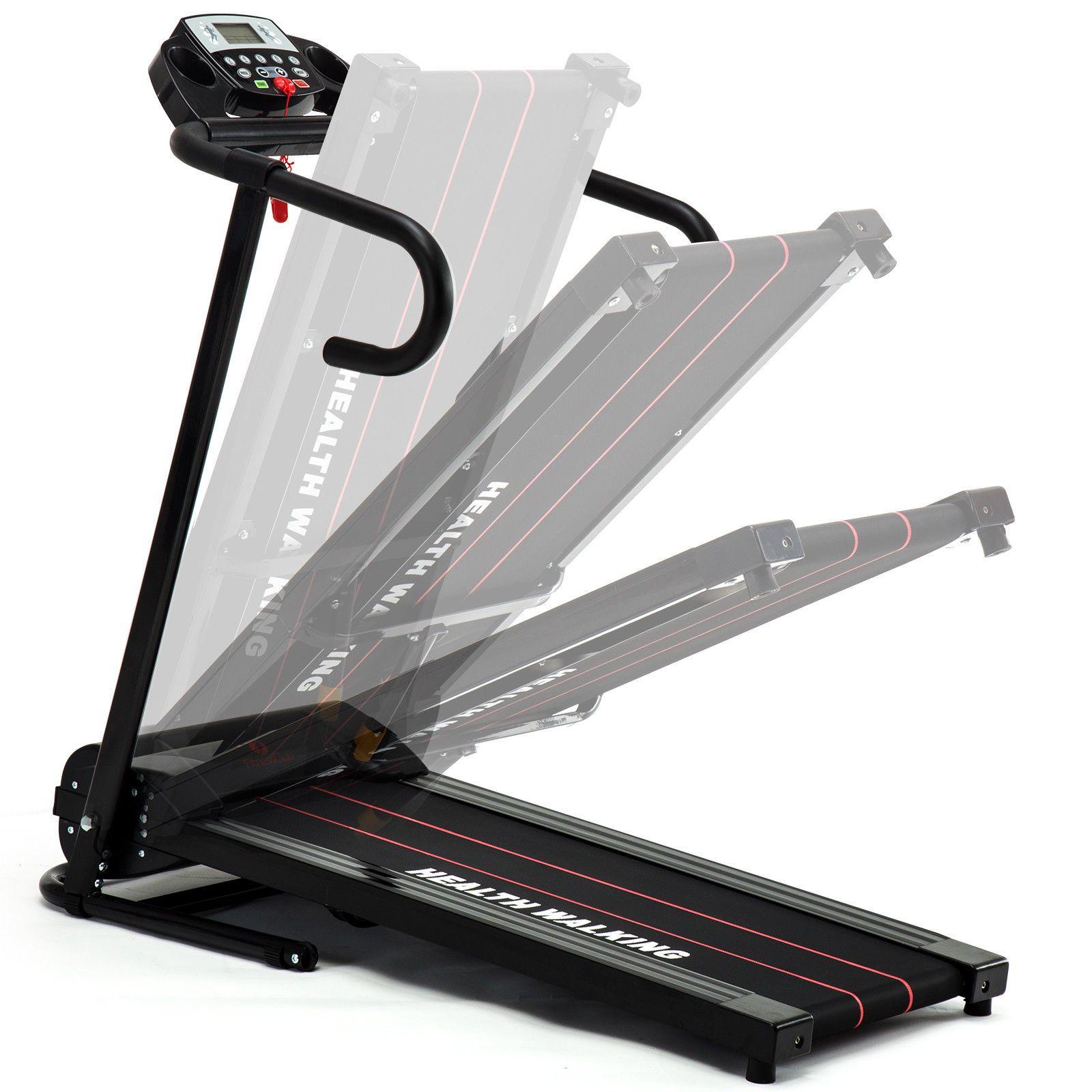 Folding 1100w Electric Motorized Treadmill Portable Running Fitness Machine Gym Workout Machines Running Workouts Treadmill