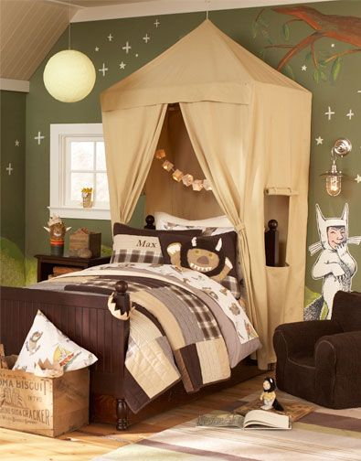 Image result for pottery barn where the wild things are bedding Boys Canopy Bed Tent & 11 Bed Canopies for Boys in 2019 | Kids Rooms and Play Rooms ...