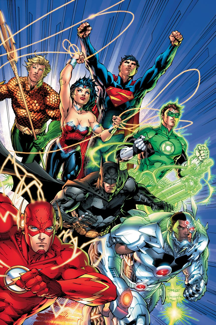 Another New 52 Justice League Wallpaper Contains Aquaman