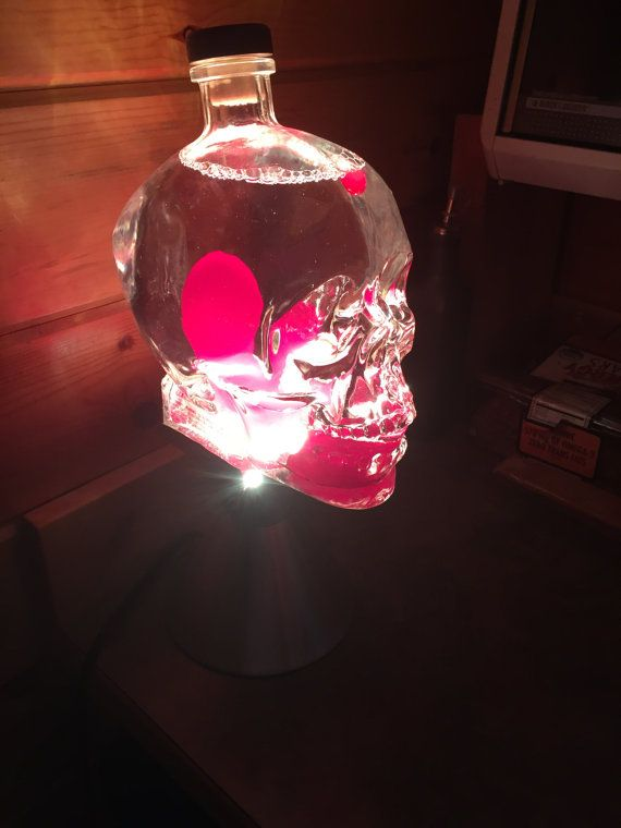 I Made This Fully Functioning Lava Lamp Using A 1 75 Liter Crystal Head Vodka Bottle Famous Blues Brother Dan Cool Lava Lamps Crystal Head Vodka Lava Lamp Diy