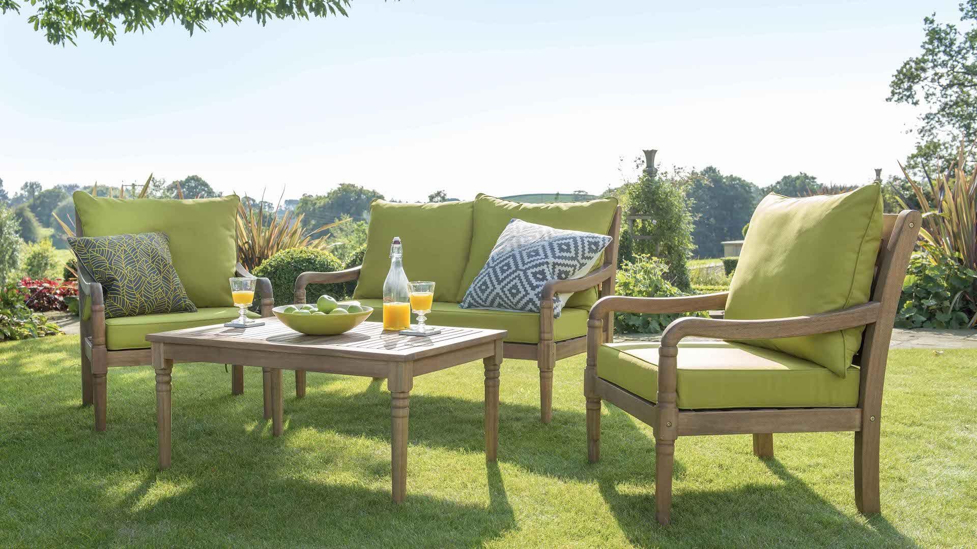 wooden garden chairs uk stool chair pronunciation cleobury lounge set wood furniture hartman outdoor products