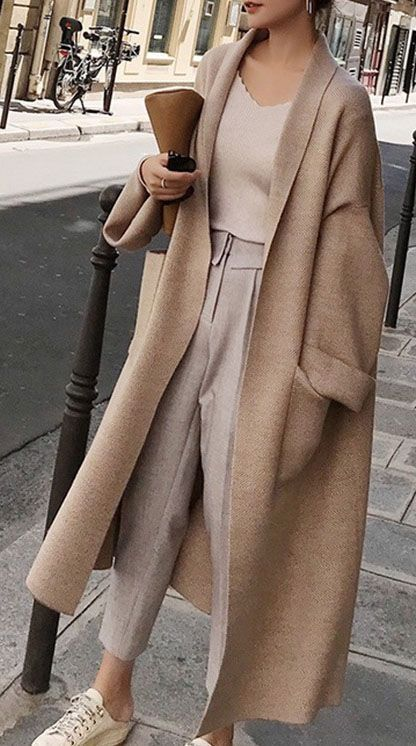 Khaki Coat -   19 style Outfits winter ideas