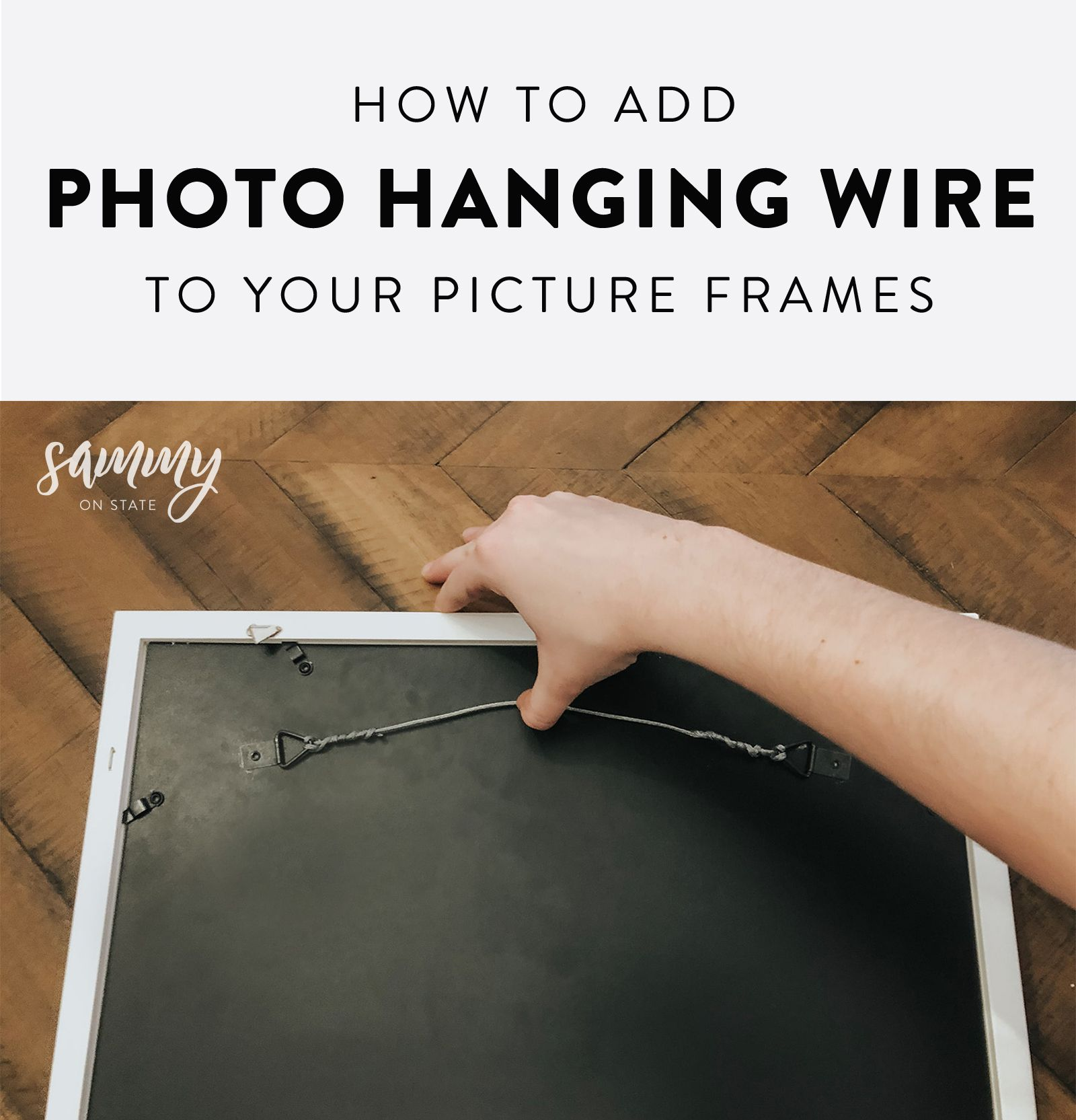 How To Add Hanging Wire To Your Picture Frame Picture