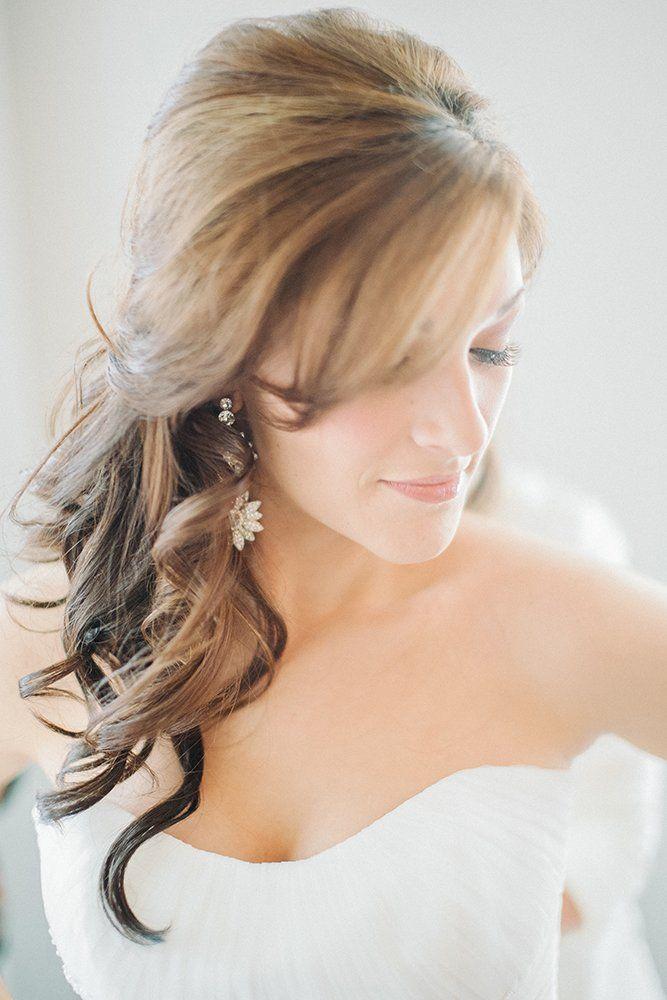 24 Charming Wedding Hairstyles With Bangs   Wedding ...