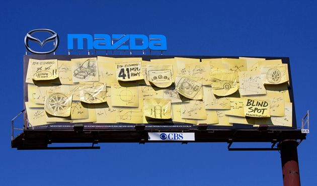 High Quality A Fun OOH Execution For Mazda. The Garage   Team Mazda And Primary Color.