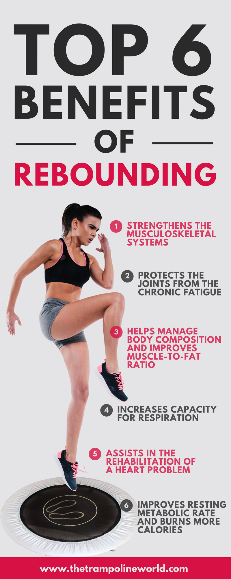 60a3bdfcd45d Trampoline your way to fitness by discovering the rebounding trampoline s  health benefits and replace your traditional workout routine by doing  trampolining ...