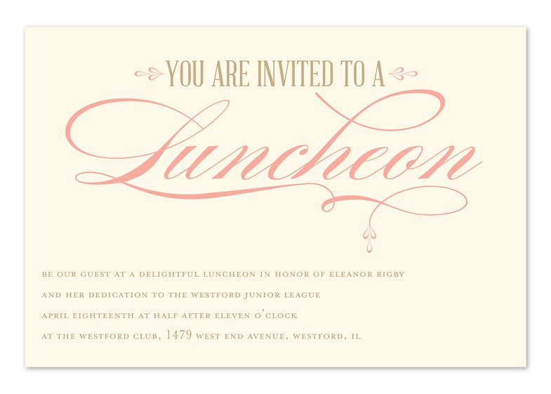 Luncheon Eleganceu0027 by Invitation Consultants Wedding Pinterest - lunch invitation templates