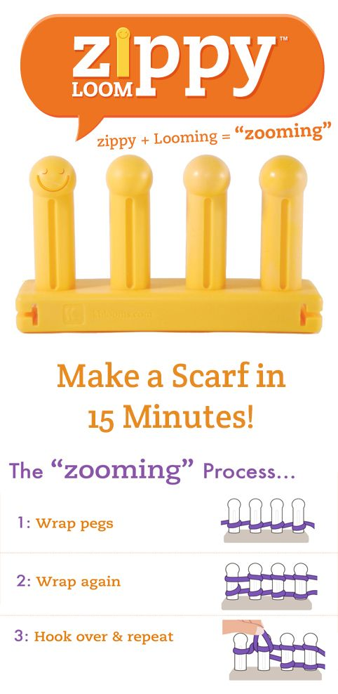 The \'Zooming\' process: How to knit a scarf in 15 minutes. | LOOM ...