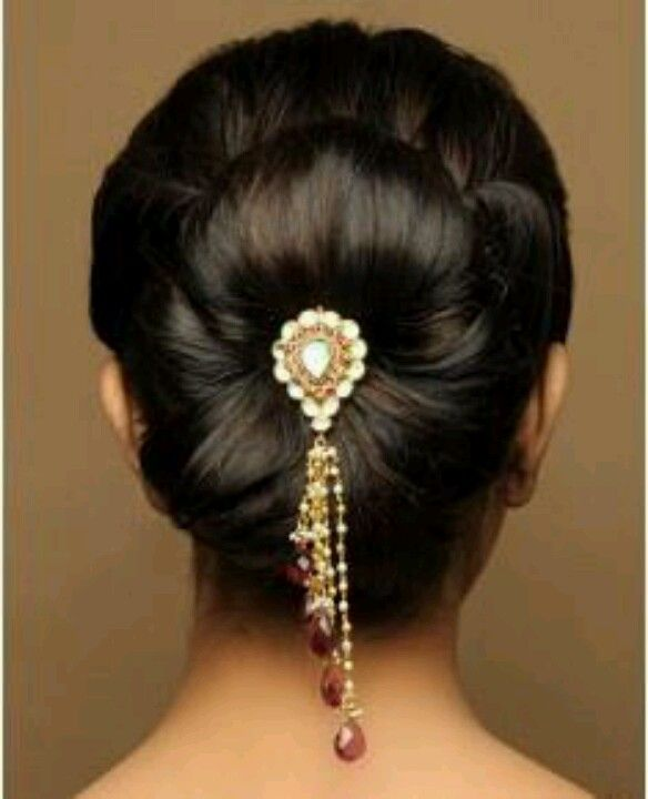Hair Bun Style For Indian Wedding: Pin By Janessa Reyes On Hair Ideas