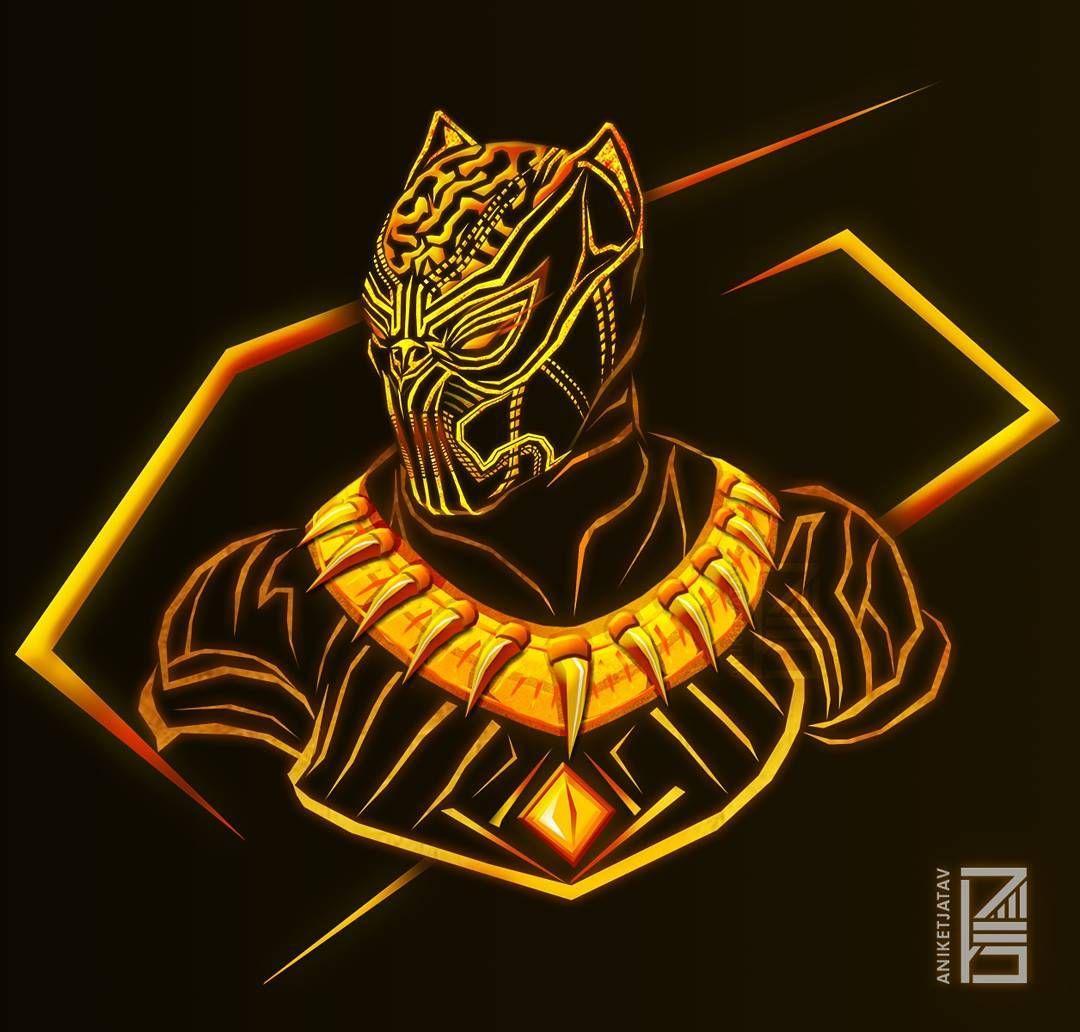 10 1 Mil Me Gusta 266 Comentarios Aniket Jatav Aniketjatav En Instagram 48 365 Neon Marvels Art Marvel Artwork Black Panther Marvel Black Panther Art