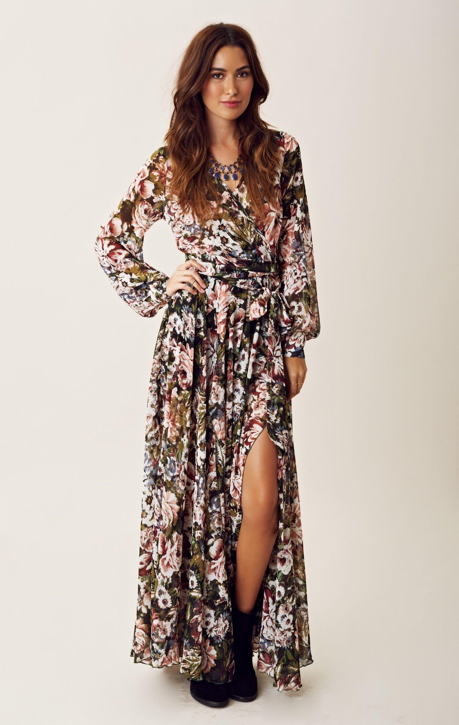 e7ac8a8890f5 Western Romance Maxi Dress | Bohemian Looks | Dresses, Fashion ...