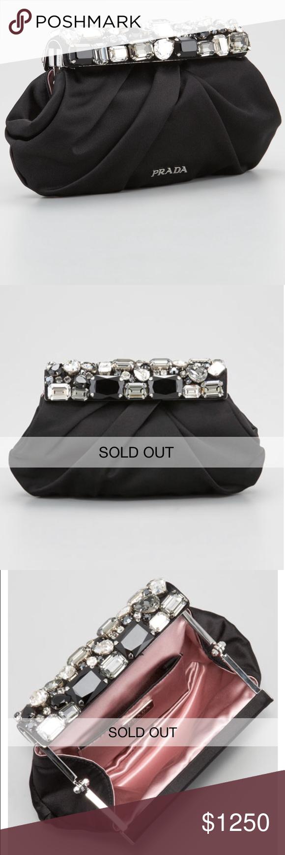 ... netherlands prada jeweled satin clutch bag new without tags. prada  jeweled satin clutch bag. 220a78f66c635