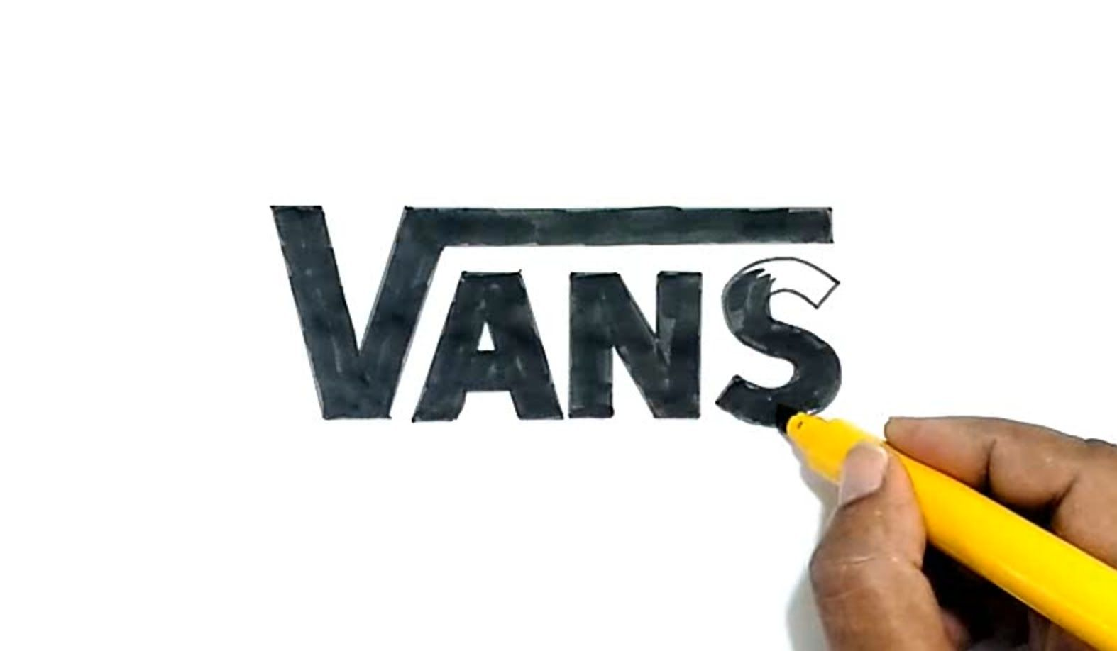 Learn How To Draw The Vans Logo In This Step By Step Drawing