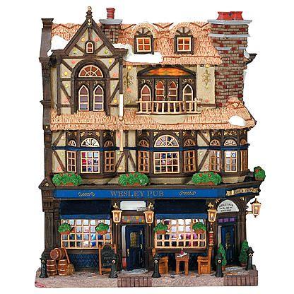 Lemax Village Collection Christmas Village Building, Wesley Pub ...