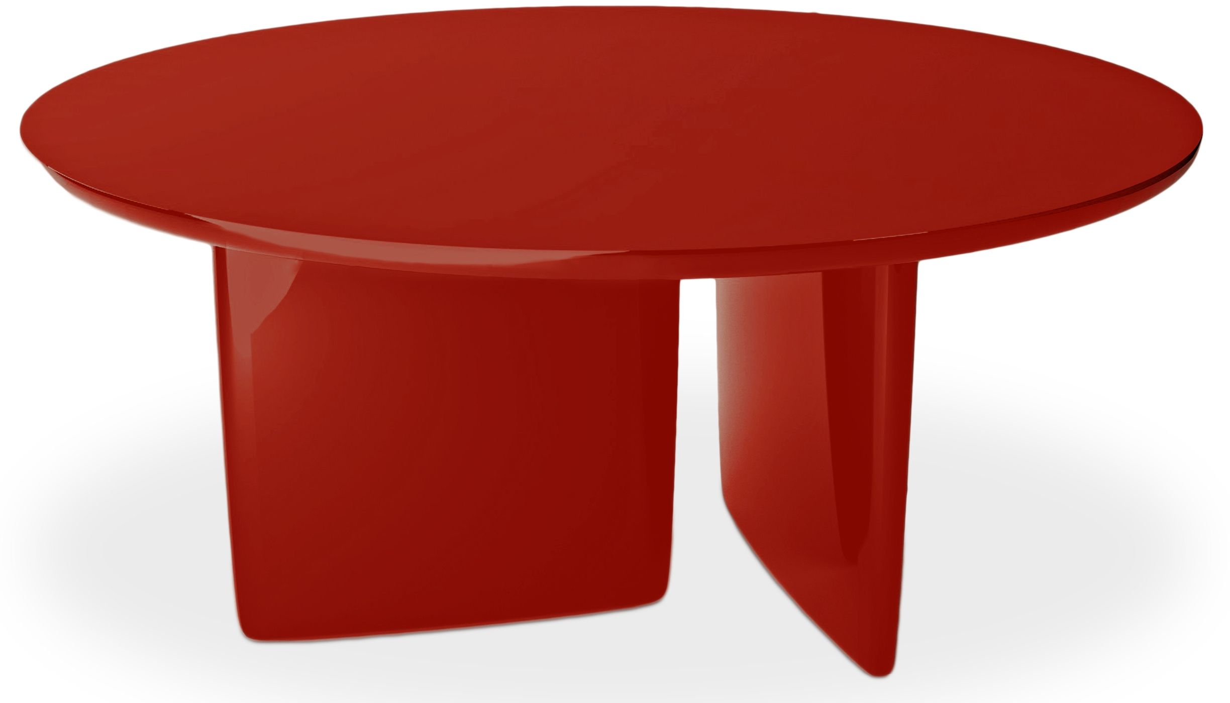 Table A Manger Ronde Laquee Rouge Kare Table A Manger