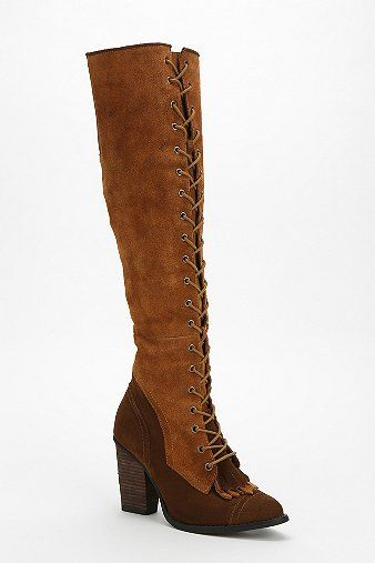 Jeffrey Campbell Jake Lace-Up Over-The-Knee Boot