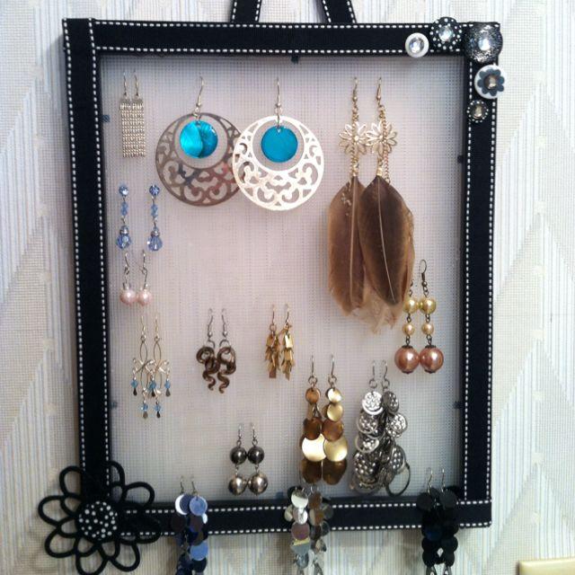 Earring holder.