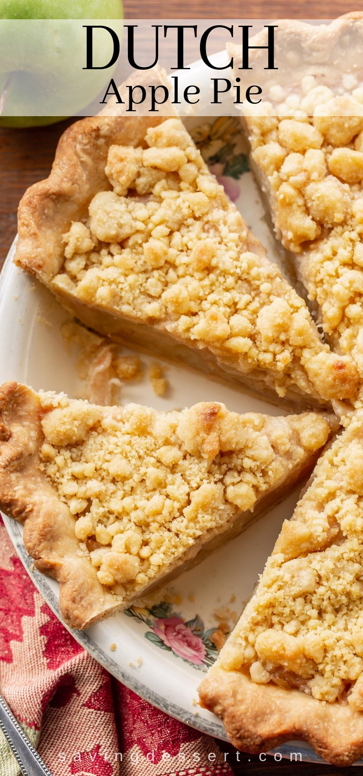 Dutch Apple Pie - Saving Room for Dessert