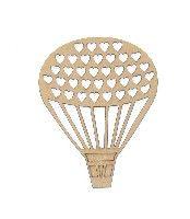 Balão Com Corações 7,5x9 Cm
