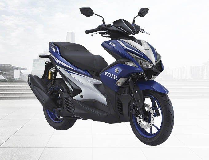 Yamaha Aerox 155 Vva R Version Warna Biru Racing Blue Yamaha