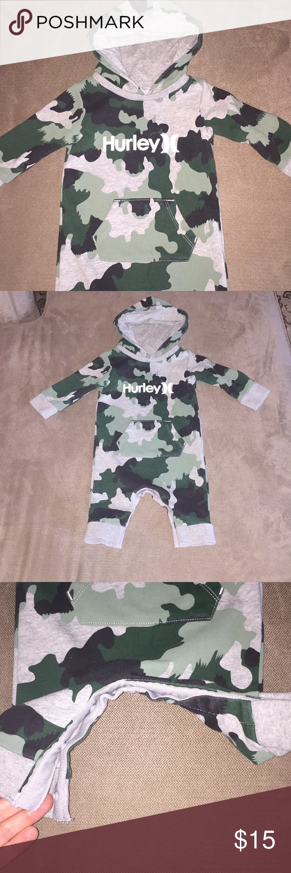 330eefc5e4e Hurley Camo Hoodie Romper Loved this cute one piece!! Hurley camp hoodie is  great