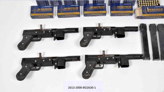 Homemade machine pistols seized in Sweden | Homemade