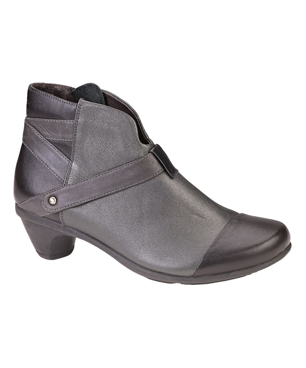 Shadow Black Lucky Leather Bootie