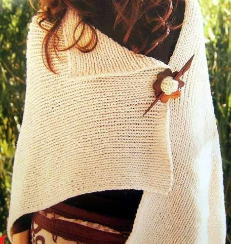 C mo tejer un poncho para principiantes crochet - Como hacer punto de lana para principiantes ...