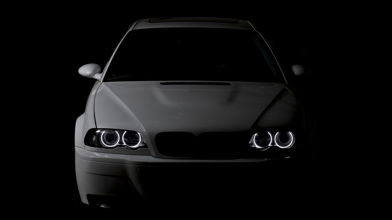 wallpapers bmw m3 e46 angel eyes bmw white lights lights. Black Bedroom Furniture Sets. Home Design Ideas