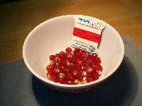 Bowl of Red Crystal Beads