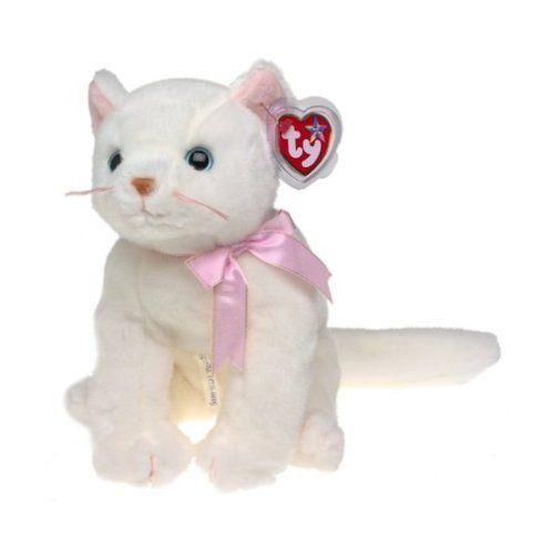 Ty Beanie Baby Flip White Cat