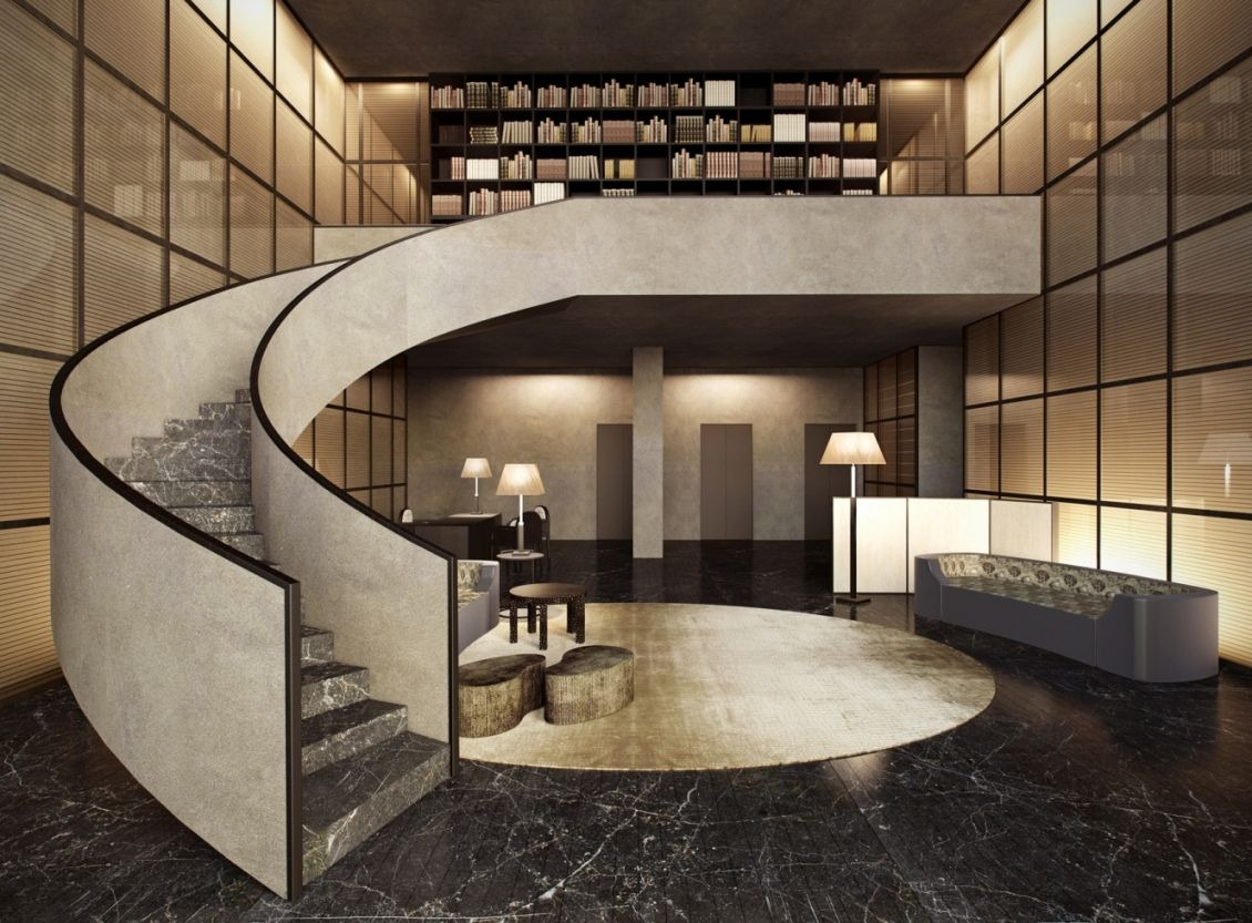 Armani casa love that staircase 3d project deign for Design in casa