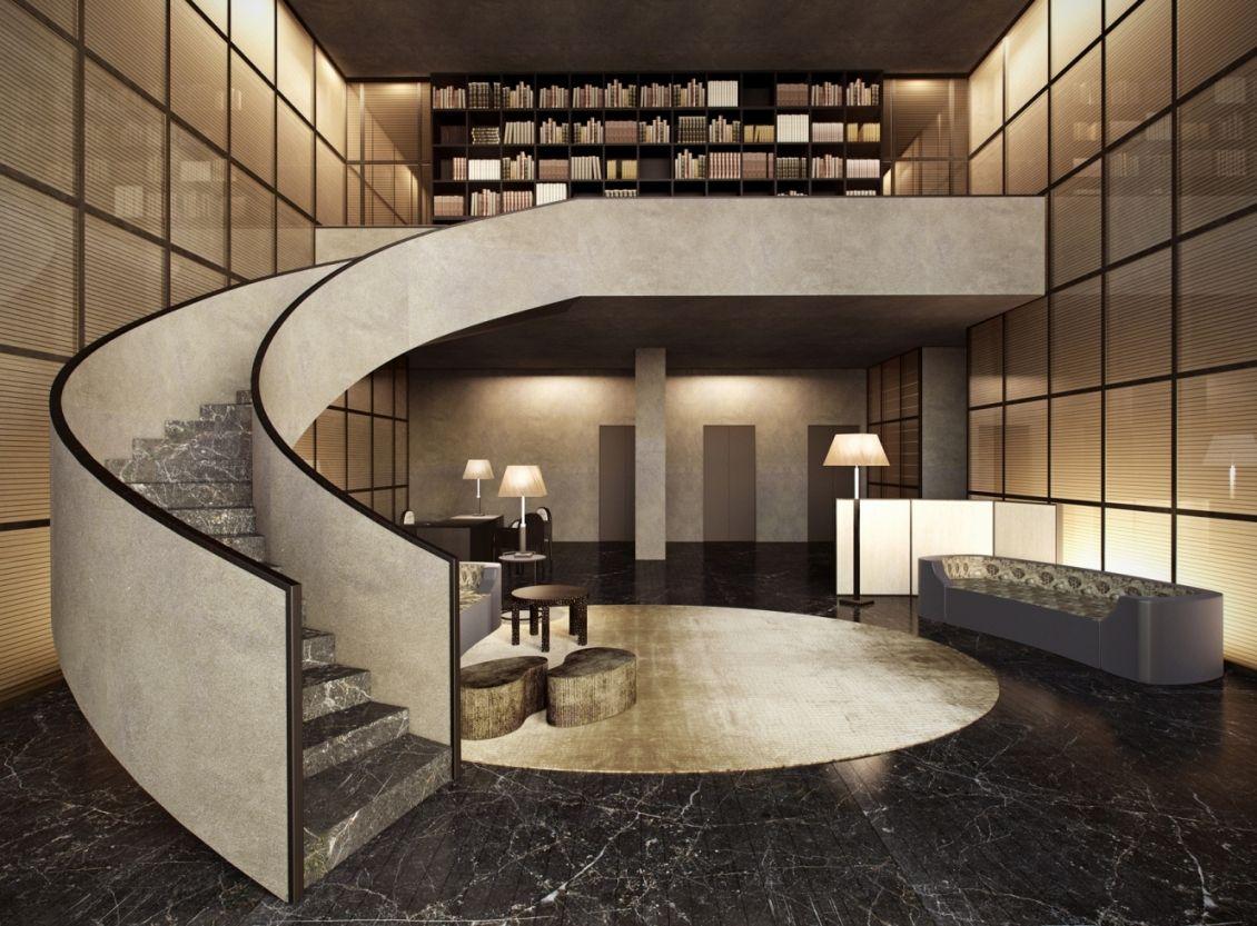 Armani casa love that staircase 3d project deign for Casa designer