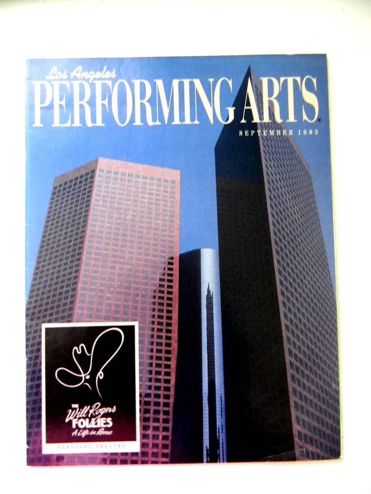Program Los Angeles Performing Arts Music Center Of Los
