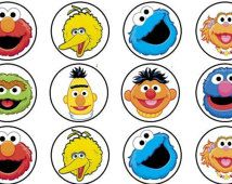 Sesame Street Edible cupcake topper decorations x 24 PRECUT wafer card FREE SHIPPING