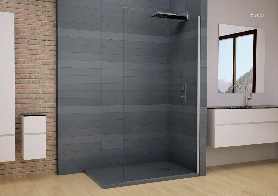 Mampara de ba o fijo ducha mamparas de ba o pinterest for Modelos de mamparas para duchas
