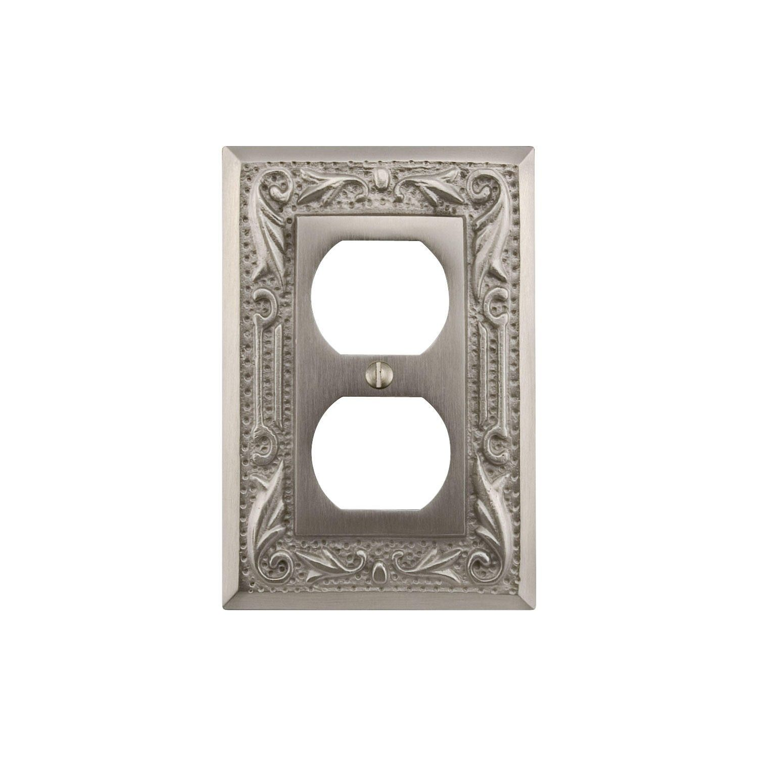 Bronze Switch Plates And Outlet Covers Floral Design Solid Brass Duplex Outlet Cover  Solid Brass Oil